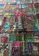 """Tapestry Vintage Indian Beaded Wall Hanging Sofa Throw 60""""x40"""" Vsbt-61-102-GR"""