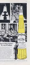 1969 Italiano Galliano Liqueur Vintage Bottle Carabinieri in Italy PRINT AD