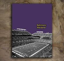 "Baltimore Ravens Sports Poster NFL Art Print Rare Hot New 12x16"""
