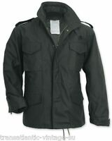M65 FIELD JACKET WITH QUILTED LINER VINTAGE MENS MILITARY ARMY COMBAT COAT BLACK