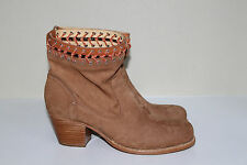 New sz 10 / 40 rag & bone Tan Mercer Crocheted Boots Ankle Heel Bootie Shoes