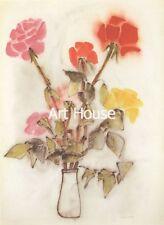 """Ha Van Vuong   """"Roses""""   30x24cm   Art Print   1010"""