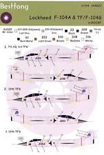 Bestfong Decals 1/144 LOCKHEED F-104A & TF/F-104G STARFIGHTER Chinese Air Force