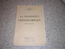 1955.technique ostéopathique  / Wanono.ostéopathie médecine