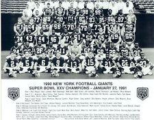 1990 NEW YORK GIANTS 8X10 TEAM PHOTO SUPER BOWL XXV CHAMPIONS  FOOTBALL