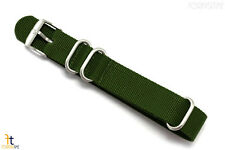Luminox 3000 22mm Green Nylon Watch Strap Steel Loop(3) 3900 3200 3080 3100