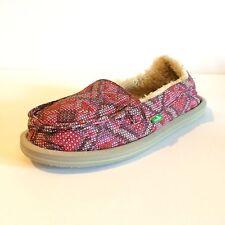 New Women's Sanuk Slipper, Pink, Size 8