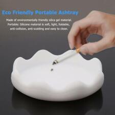 Portable Eco Friendly Silicone Rubber Ashtray Soft White Round Ashtray Tool