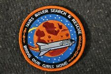 "Mars Rover Search and Rescue Recovery Mission Moral Patch, 4"" w/ Hook and Loop"