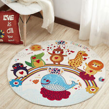 Cartoon Round Rugs and Carpets for Living Room Animal Area Rugs for Boys Room