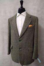 Para Hombre Verde Harris Tweed Chaqueta Blazer 40R CC4581