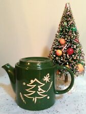 Green Christmas Tree Lidded Tea Pot The Main Ingredients New w/ Tags Holiday