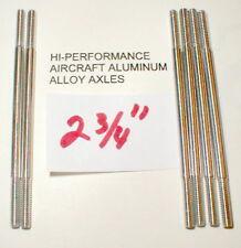 """(6) Hi-Per Aluminum Axles 5:40 thread Vintage 1960's Slot Car NOS  2 3/4"""" Long"""
