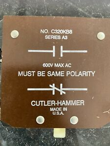 CUTLER-HAMMER C320KB8 BASE AUX. CONTACT 1NO- 1NC -NEW