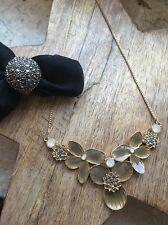 Pilgrim Kette Kollier Ring Gold Blume Neu