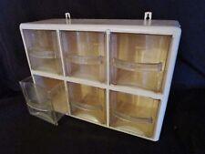 ancienne étagère murale de cuisine en bois et plastique-6 tiroirs-compartiments