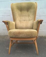 Ercol Windsor Solid Beech Framed Armchair Easy Chair Blonde