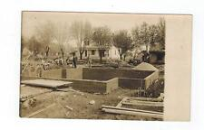 Rebuilding After Cyclone Tornado DISASTER - Men House  - RPPC Real Photo