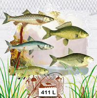 (411) TWO Individual Paper Luncheon Decoupage Napkin - FISHING FISH SPORT