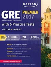 GRE Premier 2017 with 6 Practice Tests: Online + B