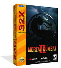 Mortal Kombat II 2 Sega 32x Ersatz Spiel Packung Etui + Abdeckung Kunst Work -