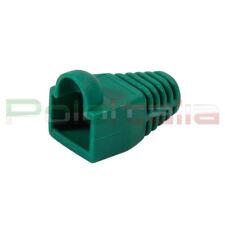 100x Copri connettore gommino per plug cavo di Rete ethernet RJ45 Lan 8p8c Verde