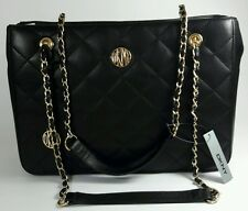 DKNY Donna Karan Black Quilted Lamb Leather Shoulder  Bag RRP £335.00