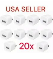 20x White 1A USB Power Adapter AC Home Wall Charger US Plug FOR iPhone 5S 6 7 8