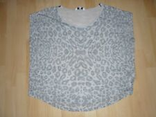 LADIES GREY THIN SLEEVELESS JUMPER BY NEW LOOK. SIZE 18 PATTERN FRONT/PLAIN BACK