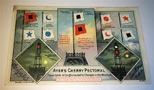 Antique Victorian US Storm Weather Nautical Flags Ayer's Advertising Trade Card