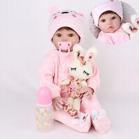 20'' Reborn Doll Baby Realistic Vinyl Silicone Newborn Dolls Wig Gift Girl Toys
