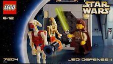 LEGO STAR WARS 'JEDI DEFENSE II' 7204 ALL 3 RARE FIGURES 100% COMPLETE GUARANTEE