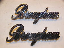 MOPAR BROUGHAM EMBLEMS #3810287 OEM 1973 74 VALIANT 1974 PLYMOUTH DODGE