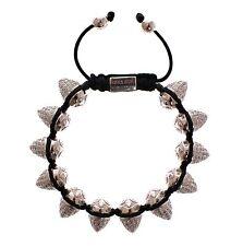 925 Silver Logo Armband Bracelet s. L Nwt $625 Nialaya Women's Clear Cz Cone