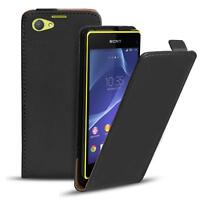 Flip Cover Case Sony Xperia Z1 Compact Schutzhülle Handy Schutz Hülle Tasche