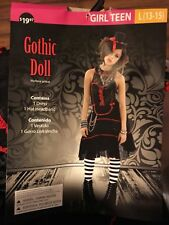 Gothic Doll Zombie Teen Girl Halloween Costume  Large 13-15