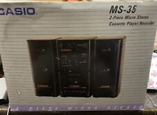 Vintage Casio 2 Piece Micro Stereo Sytem w/Speaker Ms-35