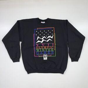 Vintage Lillehammer 1994 Winter Olympics Crewneck Sweatshirt Size Large USA Made