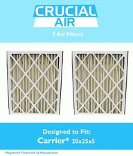 2 REPL Pleated Air Filters 20x25x5 MERV 8 Carrier Part # MF2025 & M8-1056