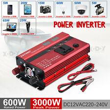 3000W Converter Power Inverter DC 12V To AC 220V-240V Invertor 4 USB 1 Socket T3