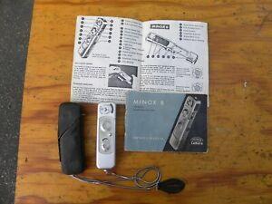 Vintage Minox B All-In-One Precision Ultra-Minature Camera w Case & Manual