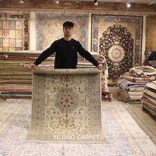 Clearance! Yilong 4'x6' Thick Handmade Wool Area Rug Good Hand Woven Carpet 2124