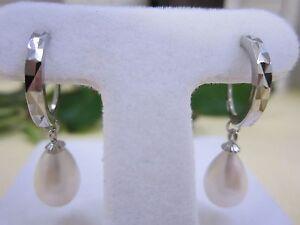 NEW - Freshwater Pearl Earrings & .925 Silver
