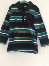 Polarn O Pyret shirt 3-4 years rugby long sleeve striped black collared