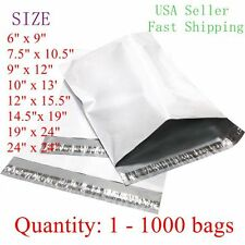 White Poly Mailer Self Sealing Shipping Envelopes Bags Plastic Mailing Bags *