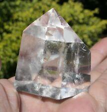 H302 139g Gros CRISTAL DE ROCHE 55mm Pointe Prisme  Pierre Naturelle quartz PUR
