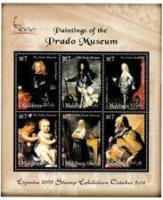 MODERN GEMS - Maldives - Prado Paintings - Sheet Of 6 - MNH