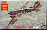 Roden 310 - 1/144 - Douglas AC-47D Spooky 1965 American airplane model kit