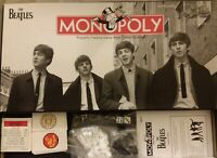 The Beatles Monopoly Game 2008 Collector's Edition 6 Pewter Tokens Near-Complete