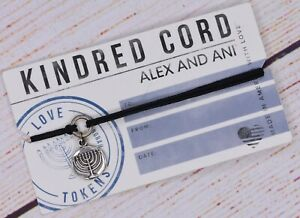 NEW Alex and Ani Love Tokens Menorah Kindred Pull Cord Silver Bracelet